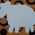 шаблон грунтованный А026 - 60 грн/шт. овечка (35 см)