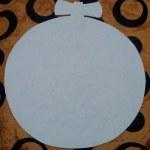 шаблон грунтованный А023 - 50 грн/шт. новогодняя игрушка (35 см)