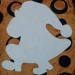 шаблон грунтованный А018 - 60 грн/шт олень (35 см)